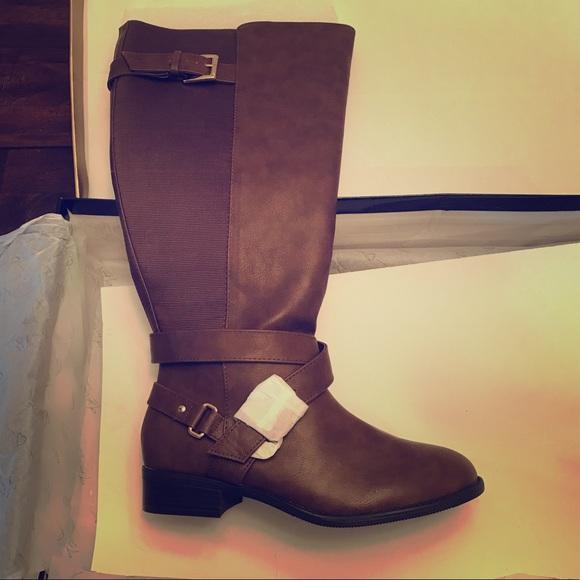 9ce4974db9c2 BRAND NEW IN BOX- Brown wide-calf ankle boot. NWT. Thalia Sodi